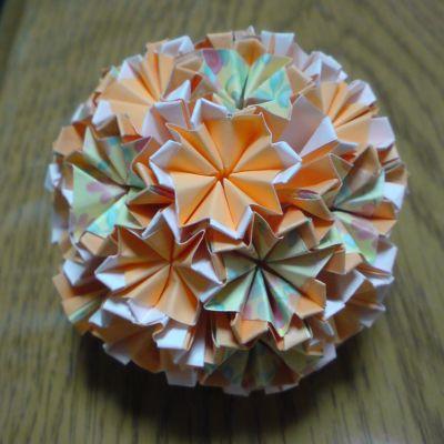 NO.015:水彩風薔薇柄 黄×橙 と 無地 橙×白