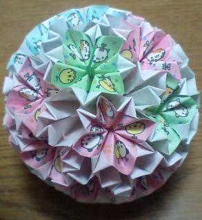 NO.005: まめどうぶつ柄 桃・空・緑×白 の7.5センチ角